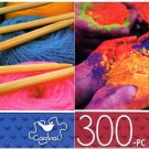 Multicolored Balls of Wool & Hands with Powder - 300 Piece Jigsaw Puzzle - p014 (Set of 2)