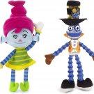 Luna Petunia Sammy Stretch Beanie Plush Toy & Cirque du Soleil Junior - Bibi Bubbles (Set of 2)