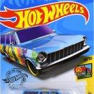 Hot Wheels 2019 Hw Art Cars - '64 Chevy Nova Wagon, Blue 188/250