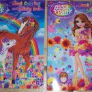 2 Lisa Frank Coloring and Activity Books