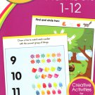 Crayola - Numbers - Pre K-K Preschool Learning Educational Activity Workbook
