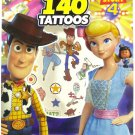 Toy Story 4 Sticker Book For Kids 4 Sheets With Over 140 Temporary Tattoos