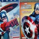 Marvel Captain America Big Fun Book to Color ~ True Patriot & Mighty Shield (Set of 2)