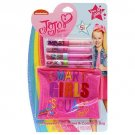 Jojo Siwa 5 Pieces Set include 4 Flavored Lip Glosses & Cosmetic Bag for Girls| (bu004)