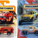 Matchbox Sonora Shredder & Matchbox 2019 MBX Off-Road Road Tripper (Camper) 70/100, Red