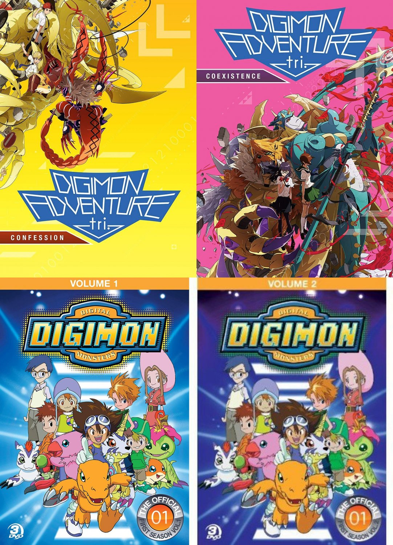 Cartoon collection - Digimon Adventure DVD  - (SET of 4)