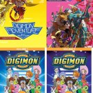 Cartoon collection - Digimon Adventure DVD  - (SET of 4)