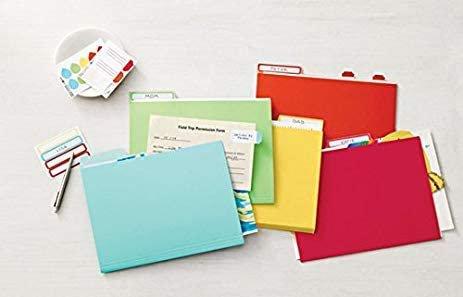 Martha Stewart Horizontal Colored File Folders Letter Size 11 1/2 in W x 9 1/2 in H