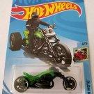 Hot Wheels 2019 Hw Moto: Blastous Moto [Green/Black] - International Card