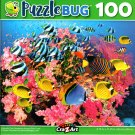 Colorful Fish Swimming Around Pink Coral - 100 Pieces Jigsaw Puzzle