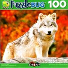 Young Arctic Wolf - 100 Pieces Jigsaw Puzzle