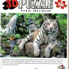 White Tigers of Bengal - Super 3D 50 Pieces Jigsaw Puzzle