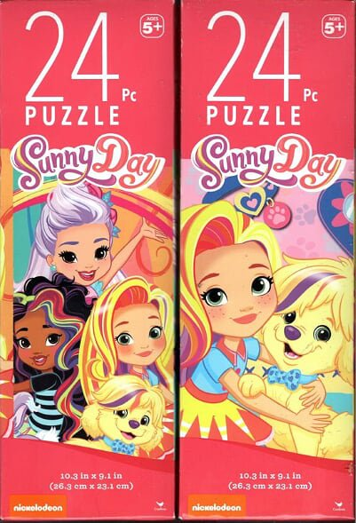 Sunny Day - 24 Pieces Jigsaw Puzzle (Set of 2)