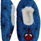Boys Spider - man Slipper Fuzzy Babba Cozy Warm Slip on (4T-5 Shoe Size 8-13) Blue r026
