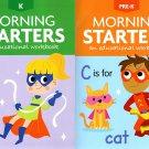 PRE-K & Kindergarten - Morning Starters Educational Workbooks - Set of 2 Books