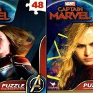 Marvel Captain Marvel - 48 Pieces Jigsaw Puzzle - v2 (Set of 2)