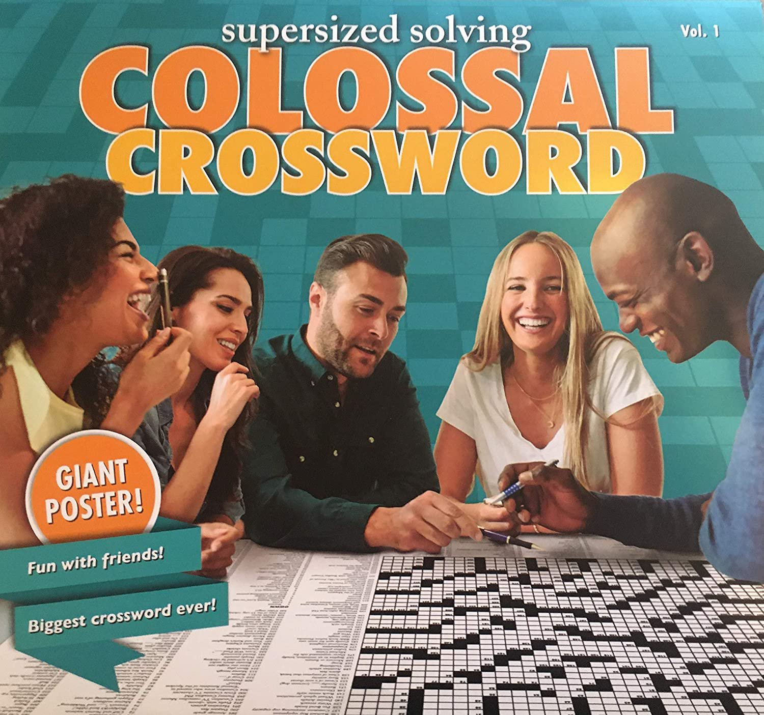 Supersized Solving Colossal Crossword Puzzle Giant Poster, Volume 1 - Over 3ft Wide!