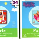 Peppa Pig -  24 Pieces Jigsaw Puzzle - (Set of 2)