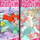 Disney Princess -  100 Pieces Jigsaw Puzzle - (Set of 2)