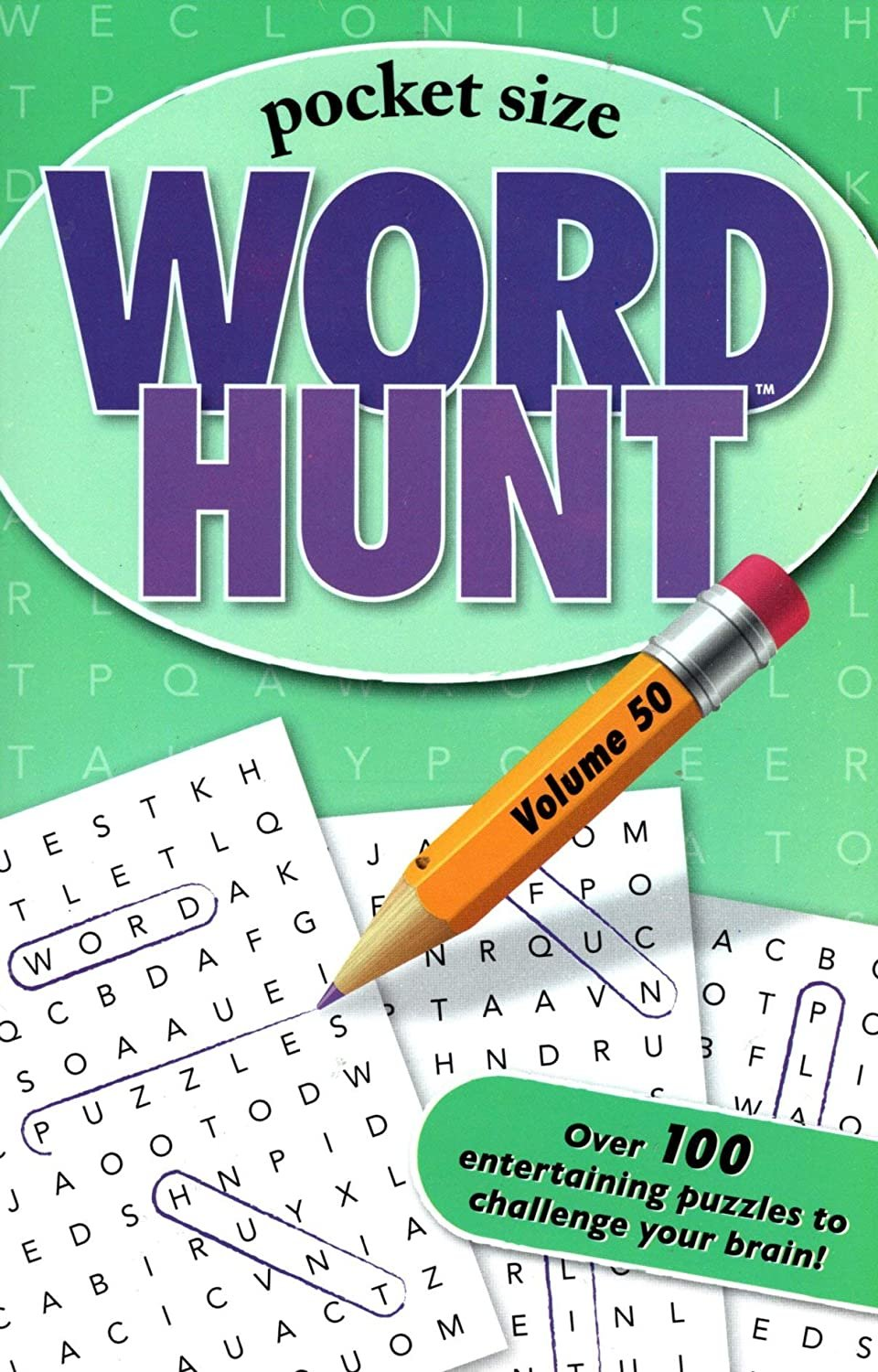 Word Hunt - All New Puzzles - (Pocket Size) - Vol. 50