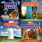 United States - Monuments and Parks, Weather, Geysers, Space Travel - (Set of 4)