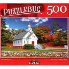 New England Church - 500 Pieces Jigsaw Puzzle