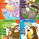 let's Practice - 123s, Letters & Sounds, Basic Concepts, Sight Words - Workbooks - (Set of 4 Books)