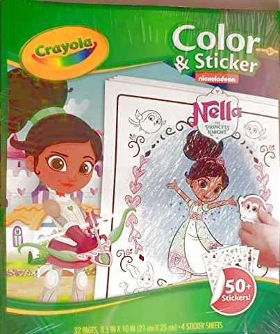 Crayola 04-0480-E-000 Nella The Princess Knight Colour and Sticker Book