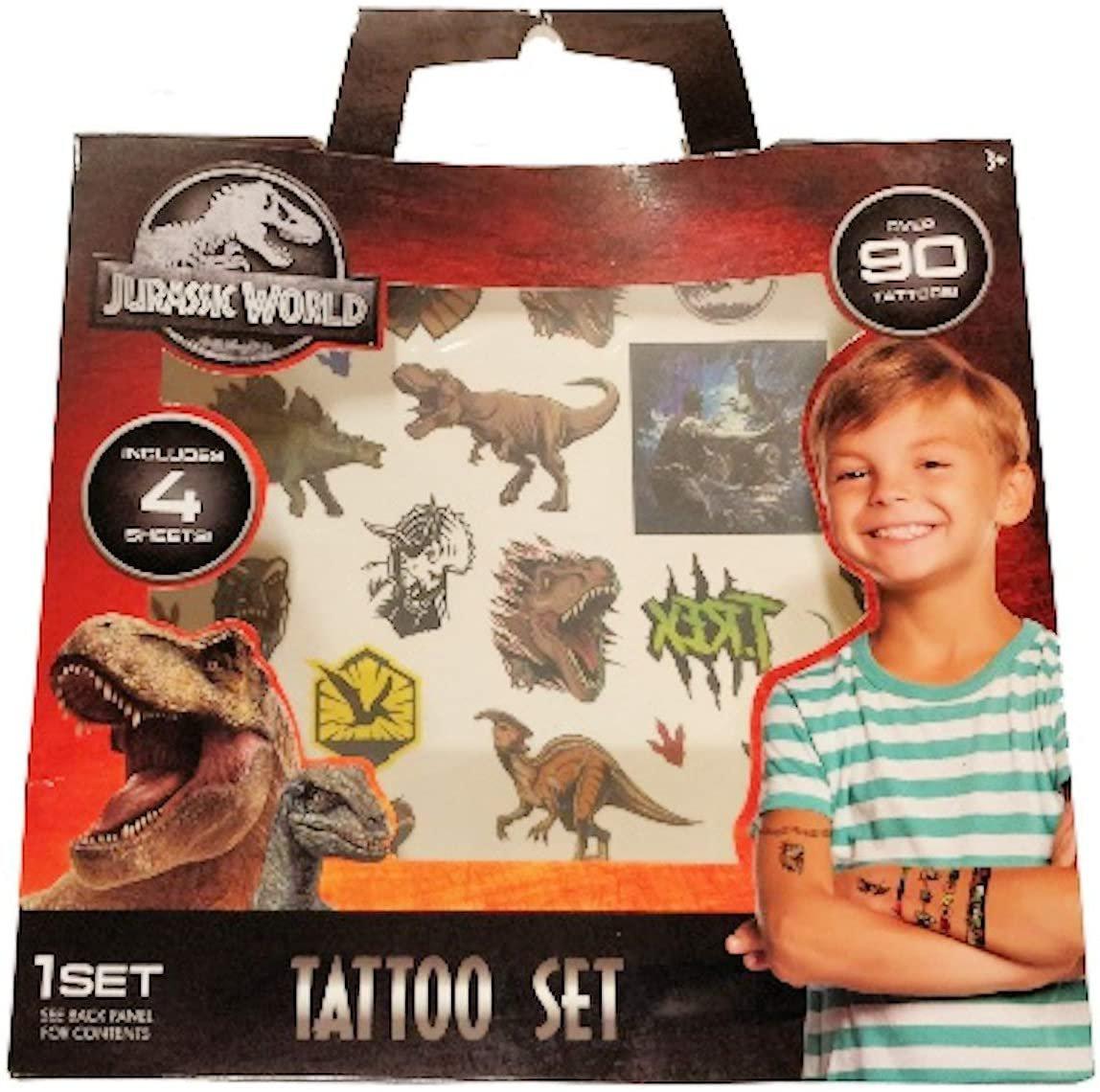 Greenbrier Jurassic World Tattoo Set