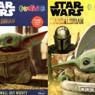 Disney Star Wars - Coloring & Activity Books - Mando & The Child, Small But Mighty - (Set of 2)