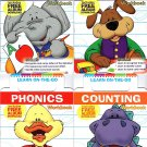 CrownewJewlz. LLs. Kindergarten Educational Workbooks - Learn on The Go - (Set of 4 Books)