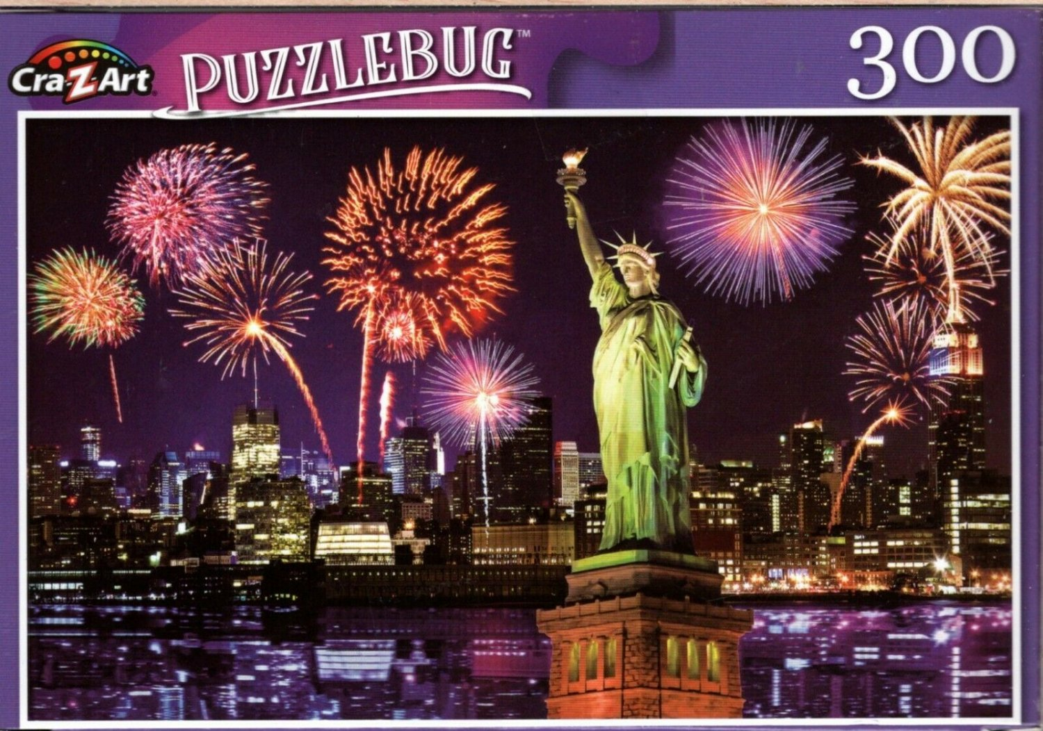 Fireworks at Night, NYC - 300 Pieces Jigsaw Puzzle