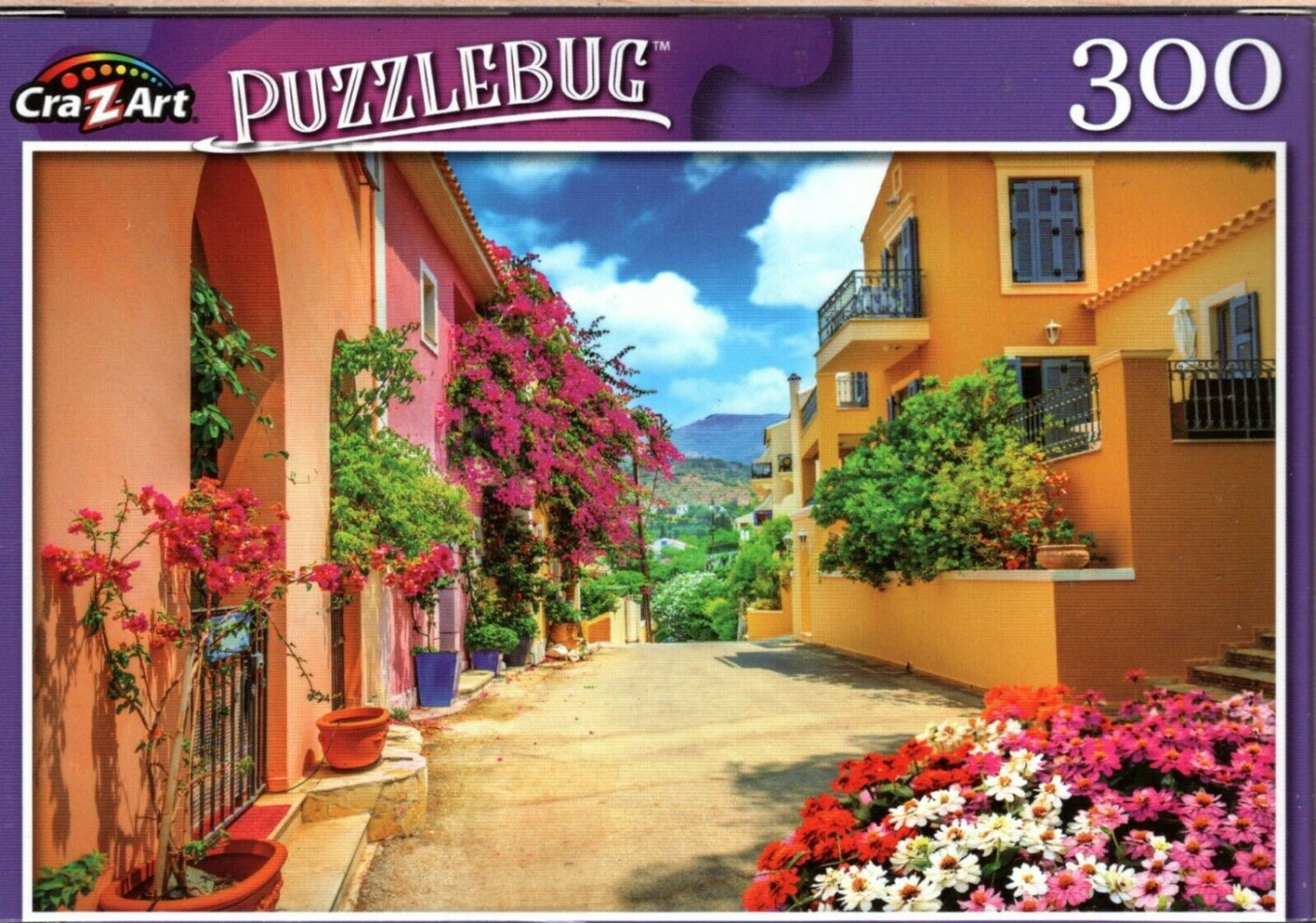 Pretty Streetin in Kefalonia, Greece - 300 Pieces Jigsaw Puzzle