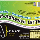 """Pacon Self-Adhesive Letters, Black, Puffy Font, 2"""", 159 Characters"""