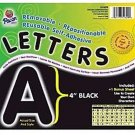 """Pacon Self-Adhesive Letters, 4"""", Black, Pack of 78"""