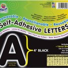 Pacon Corporation 51620 Self-Adhesive Letters, 4-Inch, 78 Characters, Black