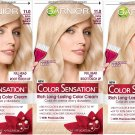 Garnier Hair Color Sensation Rich Long-Lasting Color Cream, 11.0 Extra Light  - (Set of 3)