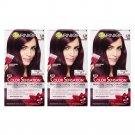 Garnier Color Sensation Hair Color Cream, 3.26 Berry Picking (Deep Burgundy) (Pack of 3)