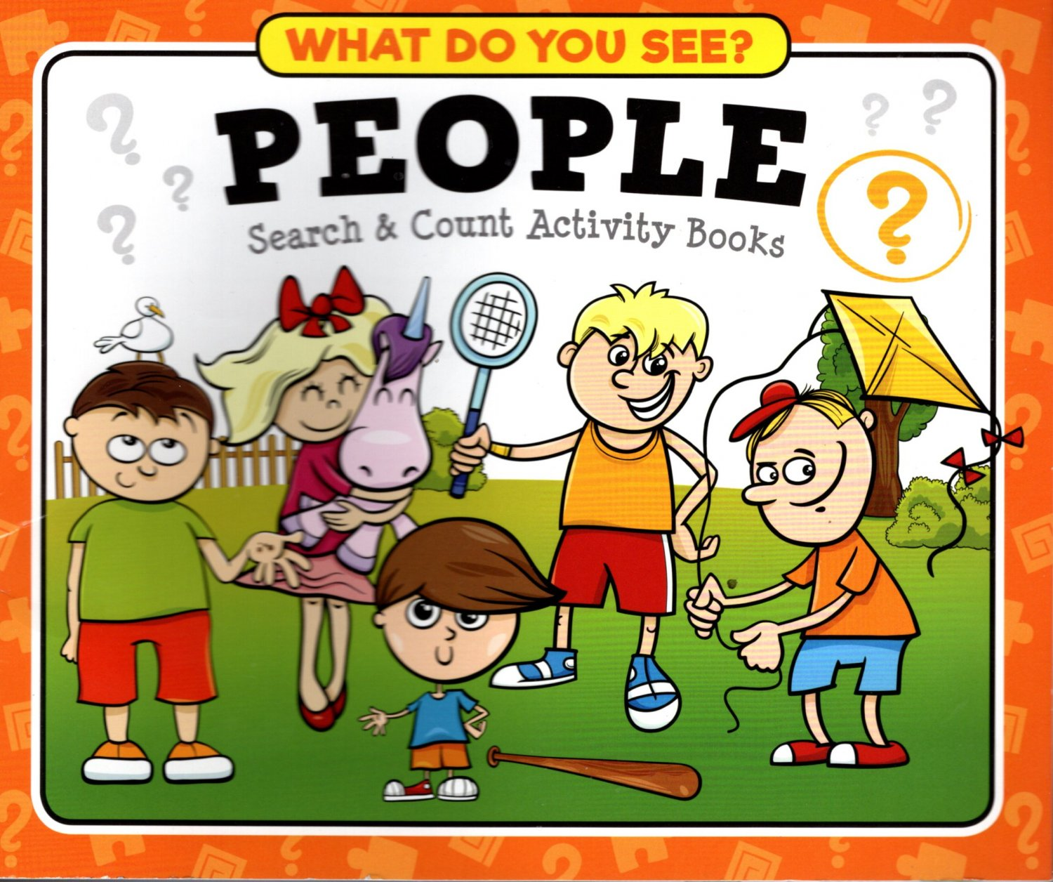 What Do You See? People Search & Count Activity Paperback Book
