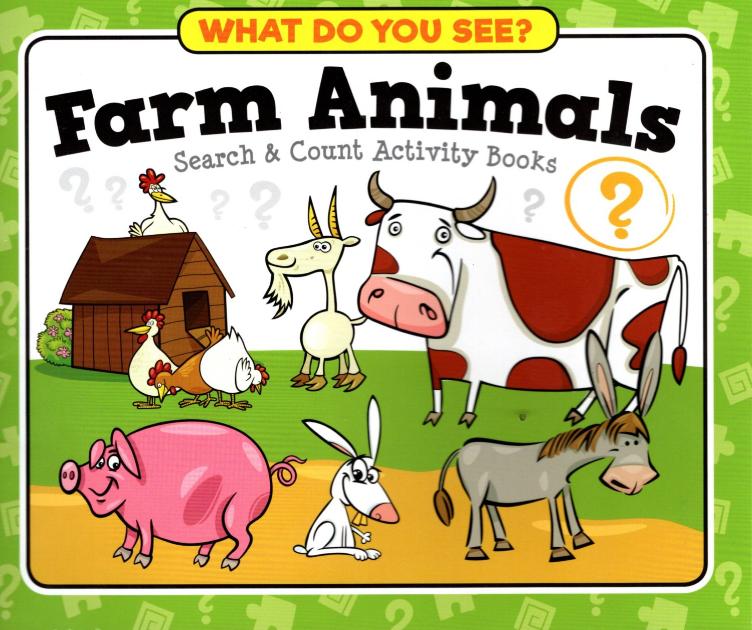 What Do You See? Farm Animals Search & Count Activity Paperback Book