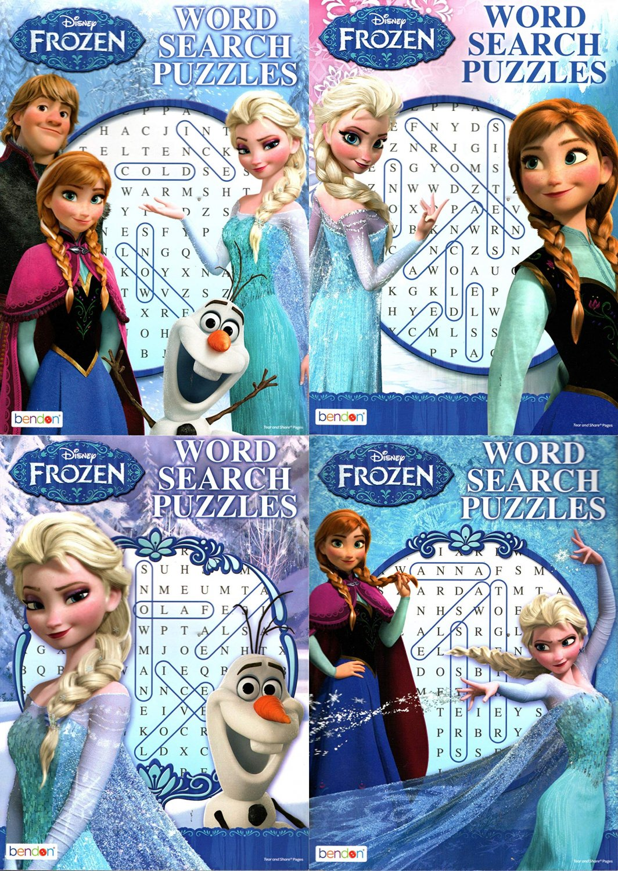 Disney Frozen - Word Search Puzzles - vol.1 - 4 (Set of 4)