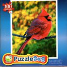 Red Cardinal - 100 Pieces Jigsaw Puzzle
