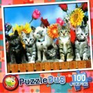 Kittens on The Fence - 100 Pieces Jigsaw Puzzle