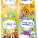 Shapes Early Learning Sticker Activity Book Bundle (4 Pack)- Preschool to Kindergarten Ages 3 to 6