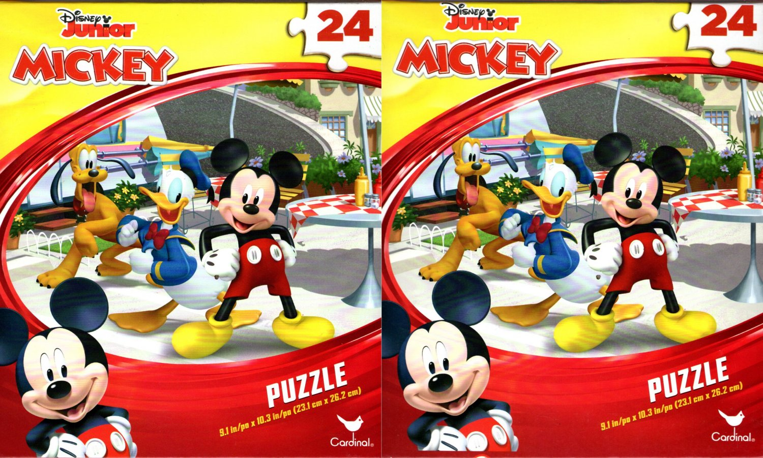 Disney Junior Mickey - 24 Piece Jigsaw Puzzle - (Set of 2)