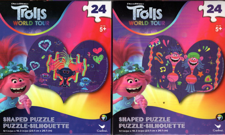 DreamWorks Trolls World Tour - 24 Shaped Puzzle - (Set of 2)