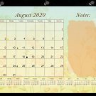 2020-2021 Academic Year 12 Months Student Calendar/Planner, Desk or Wall, Use -v001