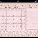 2020-2021 Academic Year 12 Months Student Calendar/Planner, Desk or Wall, Use -v002