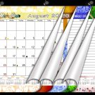 2020-2021 Academic Year 12 Months Student Calendar/Planner, Desk or Wall, Use -v003
