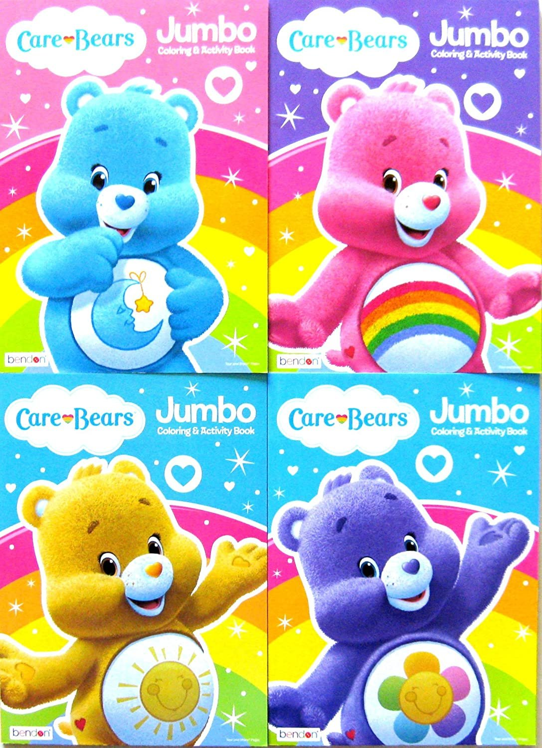 Care Bears Jumbo Coloring and Activity Book Set (Four 96-page Books)